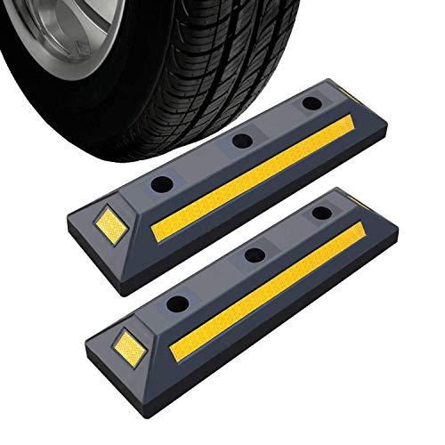 2er Radstopper Anfahrschutz Radstopp Parkbegrenzung Abgrenzung Einparkhilfe für Parkhaus Carport Parkplatz Garage Parking 55 x 15 cm