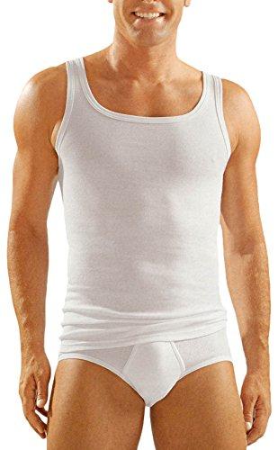Ammann - Herren Unterhemd Feinripp Doppelpack Weiss (Athletic Shirt/Tank Top) 2er-Pack Gr. 7