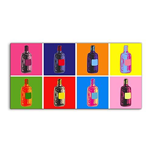 Coloray Pintura acrílica Cuadro De Pared 100x50cm Vidrio Acrílico Sala De Estar Arte Mural Plexiglass - Botella de vino Arte