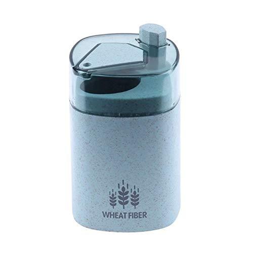 HeBiShiZeLiJianCaiXiaoShouYouXianGongSi Drücken Sie die Hand des Lagerbehälters Stroh Zahnstocher Spender, aktualisieren Sie die Größe Doo, 9.3x5.3cm, (Color : Blue)