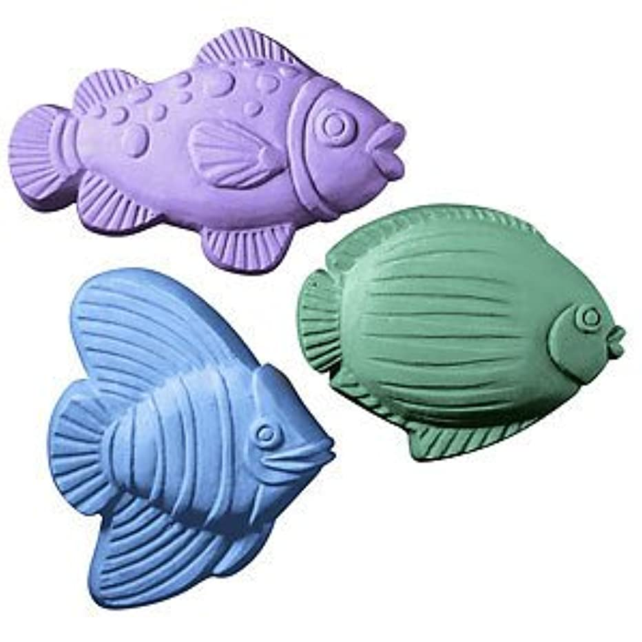 Milky Way 3 Saltwater Fish Soap Mold - Melt and Pour - Cold Process - Clear PVC - Not Silicone - MW 39