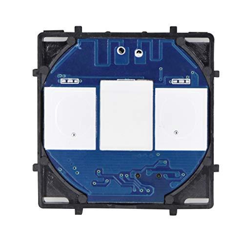 BSEED Smart Lichtschalter EU Standard 1 Fach 1 Weg Touch Lichtschalter mit LED-Anzeige für DIY-Produkt Schwarz