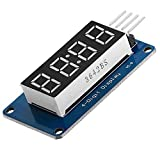 AZDelivery 8 Bits 4-Digit Digital LED Tube display I2C modulo con Clock Display compatibil...