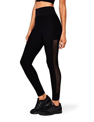 AURIQUE Damen Sportleggings, Schwarz (Black), 38 (Herstellergröße: M)