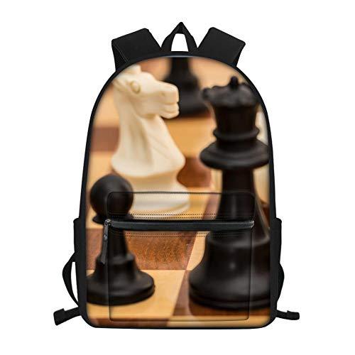 3D-Druck, Brettspiel, Brett, Schachfiguren Schultasche,Kindergarten Schultaschen, Kinder Schultaschen, Jugend Laptop Rucksäcke