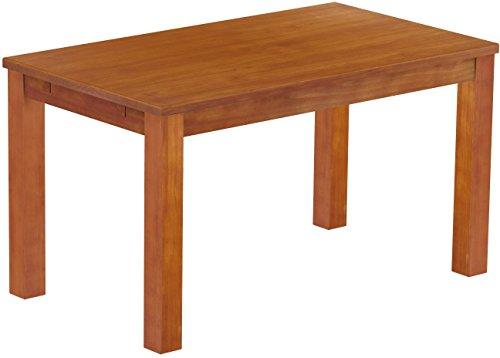 Brasilmöbel Esstisch Rio Classico 140x80 cm Kirschbaum Massivholz Pinie Holz Esszimmertisch Echtholz Größe und Farbe wählbar ausziehbar vorgerichtet für Ansteckplatten