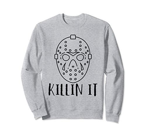 Killin It Halloween Freitag 13. Hockey-Spieler-Maske Kostüm Sweatshirt