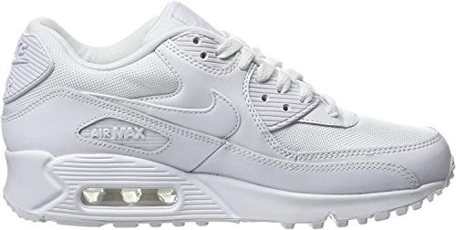 Nike Air Max 90 Essential - Zapatillas de running, Hombre, Blanco (White / White-White-White), 42 1/2