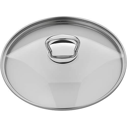 Silit Style Topfdeckel 24 cm, Glasdeckel mit Metallgriff, hitzebeständiges Glas, spülmaschinengeeignet