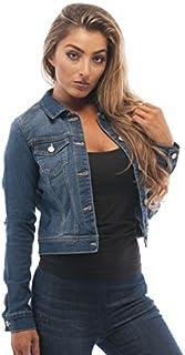 Hollywood Star Fashion Womens Basic Button Down Denim...
