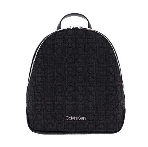 Calvin Klein Round Backpack Black Mono