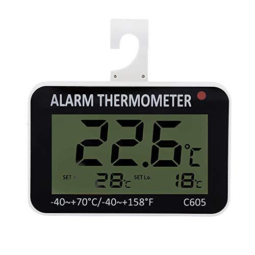 Garosa Termometro del Frigorifero Plastic Digital Professional preciso Memorizzato Fresco Ampio Display LCD Termometro del congelatore del Frigorifero Misuratore di Temperatura con Rack per la Cucina
