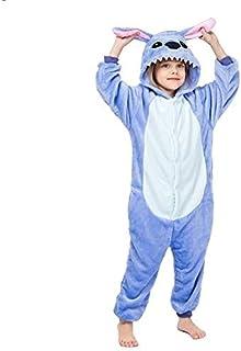 Pijama Unicornio Ropa de Noche de Kigurumi niños for Niños Niñas Unicornio Pijama de Franela Stich niños Pijamas Unicornio Animal fijó Onesies de Invierno (Color : B, Size : 10T)