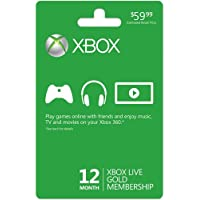 12 Month Xbox Live Gold Membership Xbox One/360