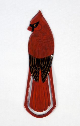 Hand Painted Red Male Cardinal Bird Bookmark (Set of 2)