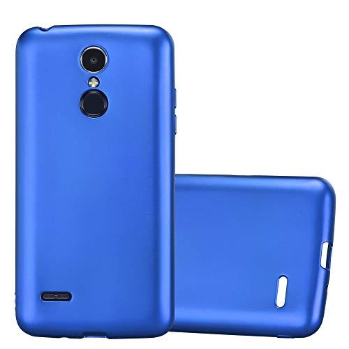 Cadorabo Funda para LG K8 2017 en Metallic Azul – Cubierta Proteccíon de Silicona TPU Delgada e Flexible con Antichoque – Gel Case Cover Carcasa Ligera