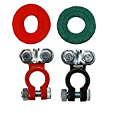 Universal Negative (-) Positive (+) Auto Battery Cable Terminal Top Post Connectors Clamps (Battery Terminal Set) for Car Truck Vehicle Ship Boat Small Yacht RV Camper
