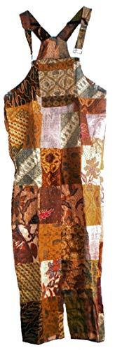 Fair-Trade-Patchwork-Latzhose mit echten alten Batik Patches von Terrapin (/ Medium)