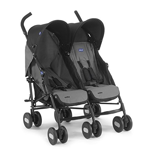 Chicco Echo Twin - Silla de paseo gemelar (13,4 kg, homologada desde...