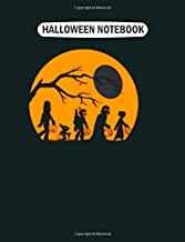 Halloween Notebook: star wars trick treat halloween silhouette gift College Ruled - 50 sheets, 100 pages - 7.44 x 9.69 inches