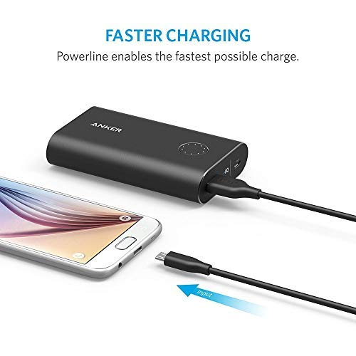 Anker [6-Pack Powerline Micro USB - Durable Charging Cable [Assorted Lengths] for Samsung, Nexus, LG, Motorola, Android Smartphones and More (Black)