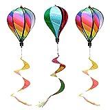 YARNOW 3 Piezas Arco Globo de Aire Viento Spinner Windsock Curlie Tail Outdoor Whirligig Juguete Colgante Viento para Jardín Césped Decoración Orgullo Gay