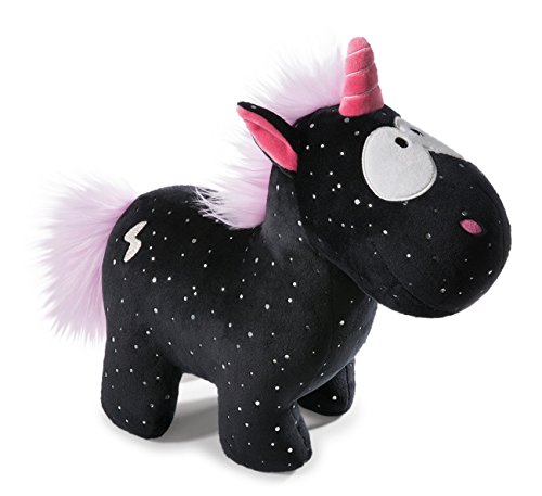 Nici 41416 Theodor and Friends Kuscheltier Einhorn Carbon Flash, 13 cm