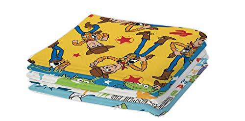 Disney Toy Story - Retales de tela, 5 unidades
