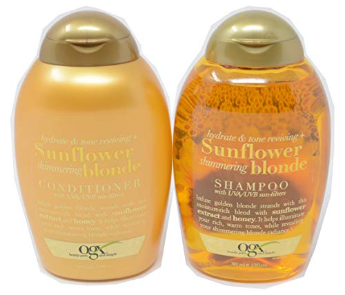 OGX Sunflower Shimmering Blonde Hydrate and Tone Reviving+ Shampoo and Conditioner Set