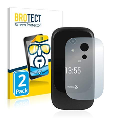 BROTECT Schutzfolie kompatibel mit Doro 7060 (Äußeres Bildschirm) (2 Stück) klare Bildschirmschutz-Folie