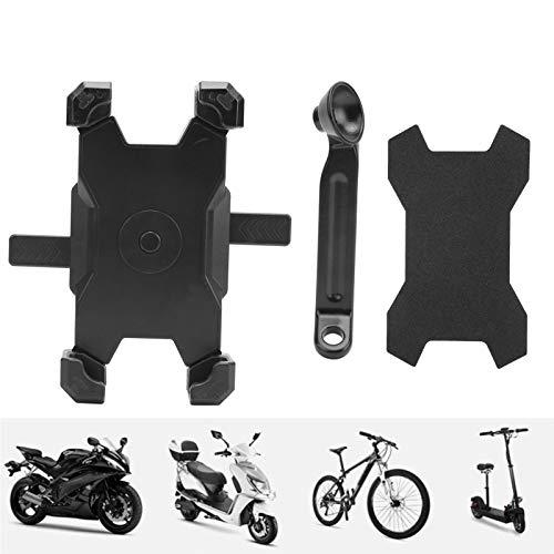 Eulbevoli Soporte para GPS, Soporte Ajustable para teléfono de Motocicleta para Bicicleta de montaña para Motocicleta E-Scooter