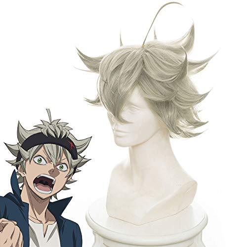 Black Clover Anime Cosplay Asta Gridelin Peluca corta Accesorio de cosplay Fibra resistente al calor Pelucas de cosplay Disfraz Prop + Gorra de peluca