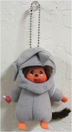 Monchhichi World Costume Rock Island Keychain Plush Doll