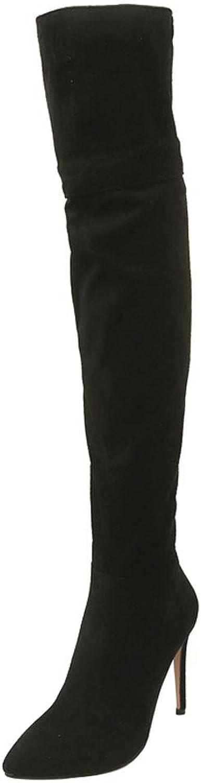 TAOFFEN Women shoes Stiletto Thigh High Boots Half Zip