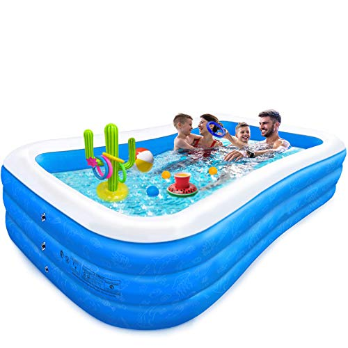 FF&XX Piscina Inflable,Piscina Hinchable Familiar con Depuradora,Espesar Piscina Hinchable Piscina Infantil para...