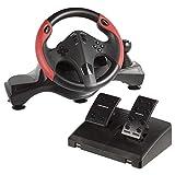 Konix Drakkar Styri - Volant PC USB + Pedalier Avec Levier de Vitesse - Vibration Deux Moteurs - Volant Gaming de Course + Boite...