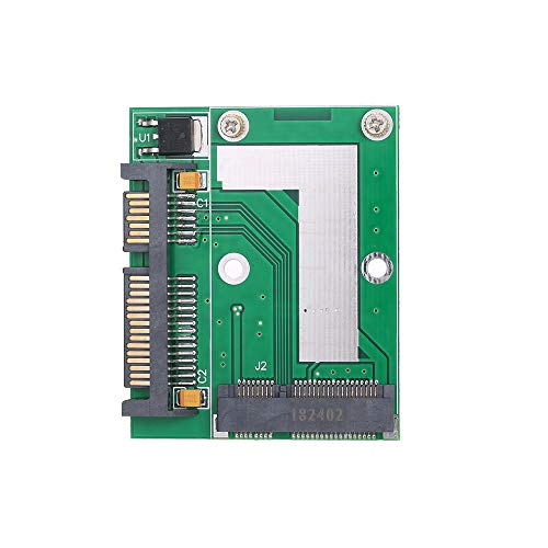 Rantoloys Tarjeta adaptadora de convertidor de Interfaz mSATA Mini PCI-e de Media Altura a SATA3 de 2,5 pulg.