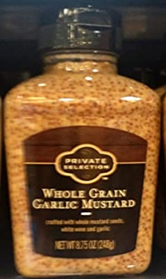 Private Selection Whole Grain Garlic Mustard 8.75 Oz (Pack of 3)