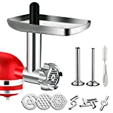 Metal Food Grinder Attachment for KitchenAid Stand Mixers, G-TING Meat Grinder Attachment Inclu…