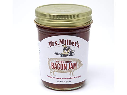Mrs. Miller's Bacon Jam, Your Choice of Maple Onion, Spicy Chili or Smokey BBQ- 2/9 oz. Jars (Spicy Chili)