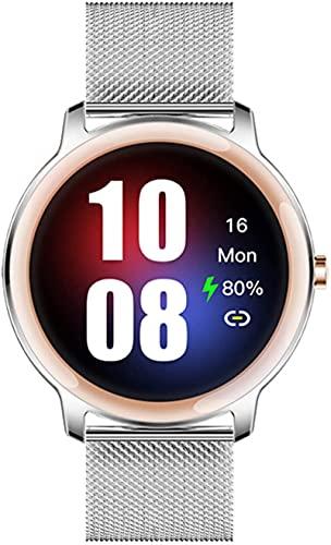 Mxchen Super Slim Fashion Weibliche Smart Watch 2021 Full Touch Runder Bildschirm Smart Uhr, weibliche Herzfrequenz-Monitor für Android und iOS