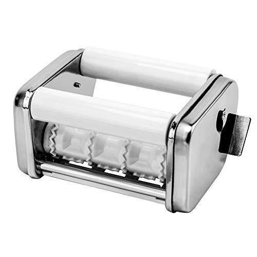 TANBURO Raviolatrice Accessorio per Ravioli Inox Compatibile con Macchine per Pasta Manuali