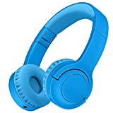Picun Kids Bluetooth Headphones, 35 Hrs Playtime Foldable Stereo Kids Wireless Headphones with USB-C Fast Charge and Built-in Microphone for Phones/Pad Tables/PC, 2020 Upgraded Model E3 Blue