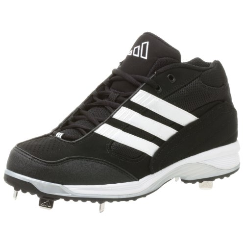 adidas Men's Excel IC 3/4 Baseball Shoe,Blk/Runwht/Metsil,6.5 M
