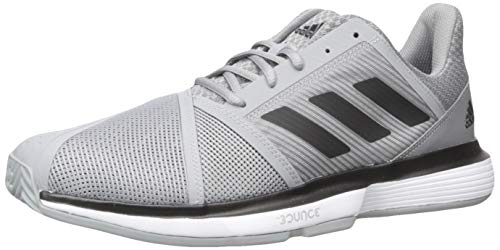 adidas Men's CourtJam Bounce Tennis Shoe, Grey/Black/White, 10.5 M US