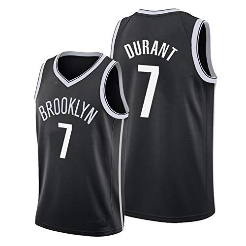 Camiseta de Baloncesto para Hombre, Brooklyn #7 Kevin Durant Camiseta de Jugador de Baloncesto Jeysey, Bordado Transpirable y Resistente al Desgaste Camiseta para Fan,3,S