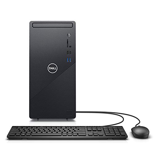 Dell Inspiron Desktop 3880 - Intel Core i5 10th Gen, 12GB Memory, 512GB Solid State Drive, Windows 10 Pro, 2 Year On-Site (Latest Model) - Black