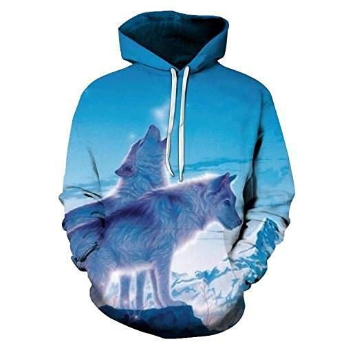 Loup Imprimé Hoodies Hommes 3D Hoodies Marque Sweats Garçons Vestes Qualité Pull Mode Survêtements Animal Streetwear Out Manteau-Picture_Color_XL