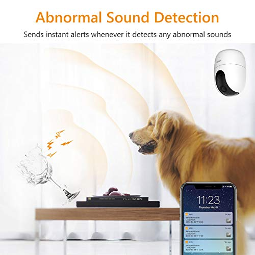Imou Indoor Wi-Fi Security Camera, 1080P Pan/Tilt Dome Camera, Home Surveillance Camera with Human Detection, Smart Tracking, Privacy Mask, Abnormal Sound Detection, Two-way Audio and Night Vision