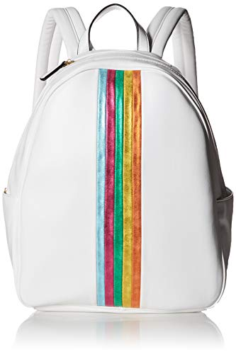 Betsey Johnson Women's Between The Lines Backpack, White, One Size